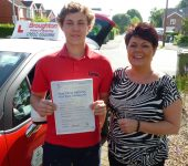 David took driving lessons with the Broughton School of Motoring