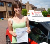 Lily passed her driving test first time