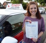 Charley passed her driving test in Scunthorpe with the Broughton School of Motoring
