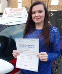 Jordanna passed her driving test in Scunthorpe with the Broughton School of Motoring