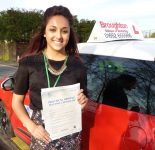 Leah passed her driving test in Scunthorpe with the Broughton School of Motoring
