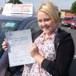 Shannon took driving lessons in Scunthorpe with the Broughton School of Motoring
