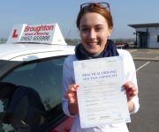 Weronika passed her driving test in Scunthorpe with the Broughton School of Motoring