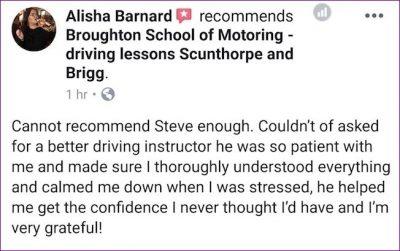 Alisha testimonial