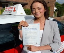 Amelia took driving lessons in Brigg with the Broughton School of Motoring
