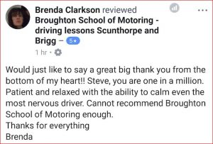 Driving lesson review