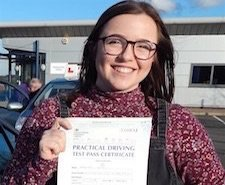 Hannah took driving lessons in Scunthorpe