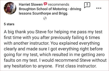 Driving lesson review - Broughton School of Motoring