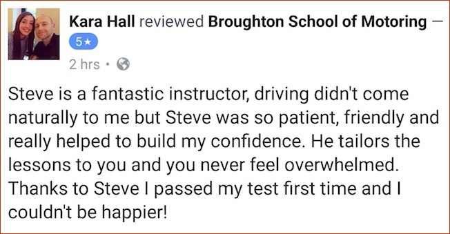 Kara review of her driving lessons in Scunthorpe