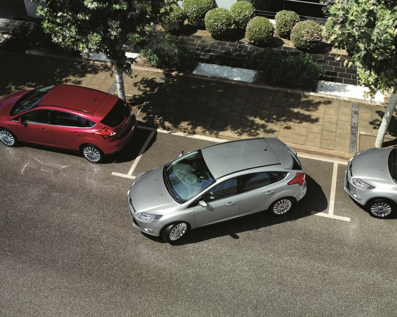 Parallel parking on driving test