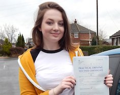 Shannon took driving lessons in Brigg