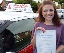 Charlie took driving lessons in Winterton