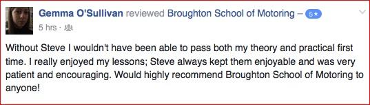 Gemma reviewed the Broughton School of Motoring