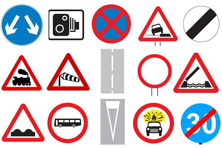Theory test signs