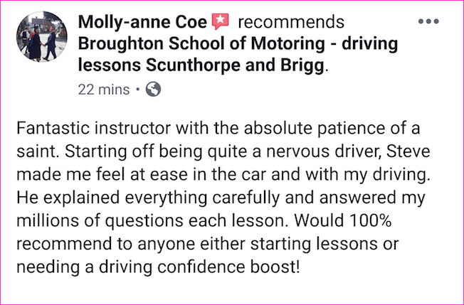 Review of driving lessons in Scunthorpe