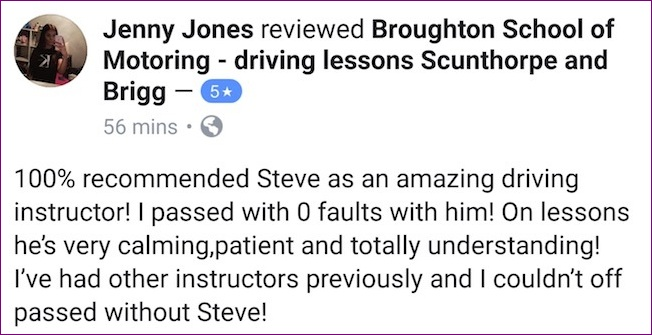 Driving lesson in Scunthorpe - review
