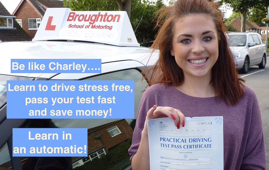 Automatic driving lessons in Scunthorpe and Brigg