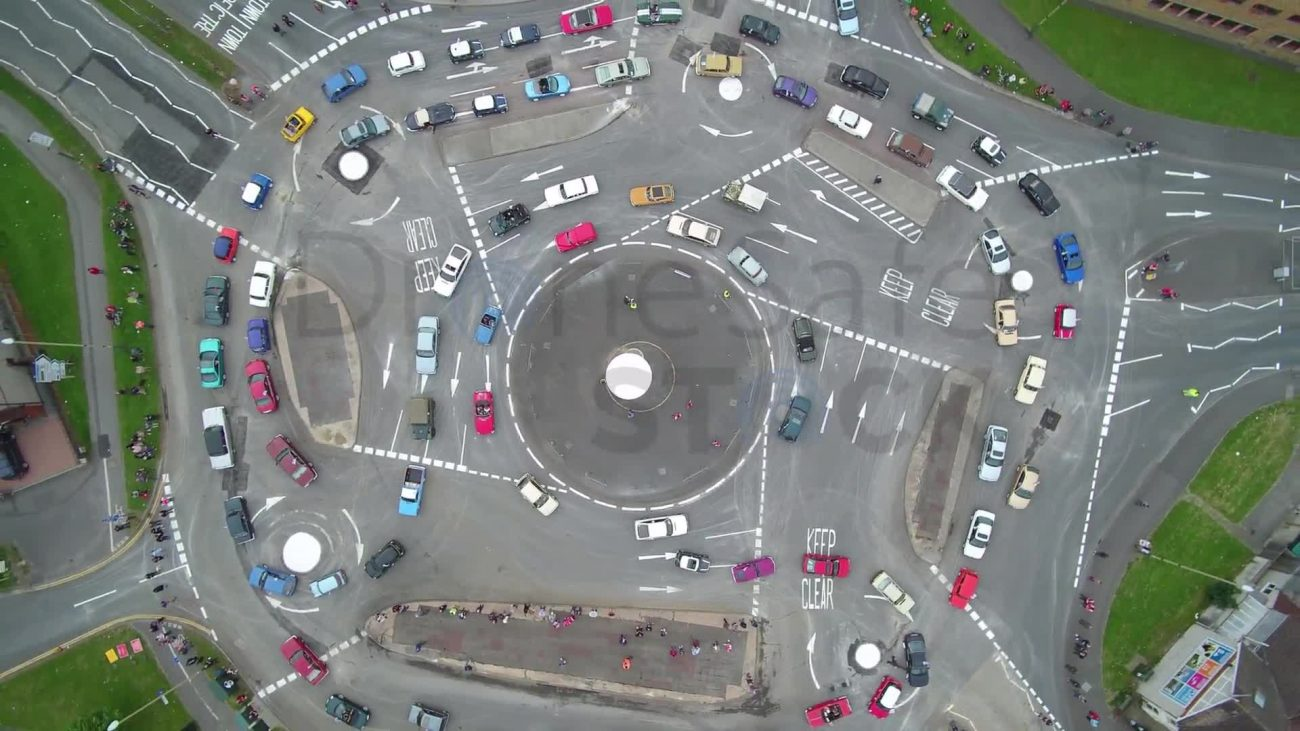 Busy roundabout