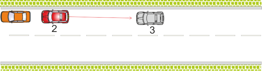 Stopping on the right - reversing